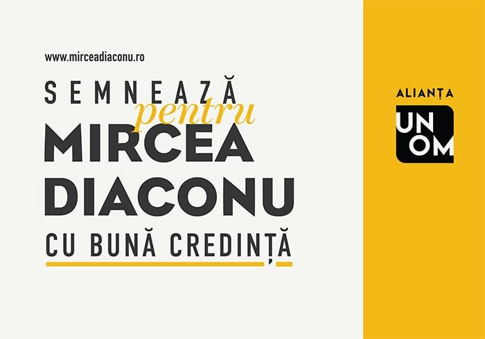 Afiș electoral Mircea Diaconu